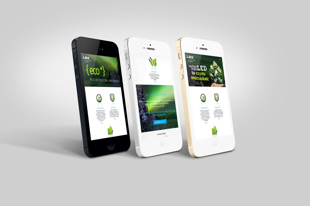 www mobile Pollight Identyfikacja wizualna Pollight