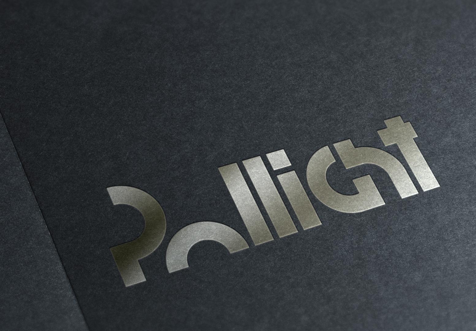 Logo Pollight Identyfikacja wizualna Pollight