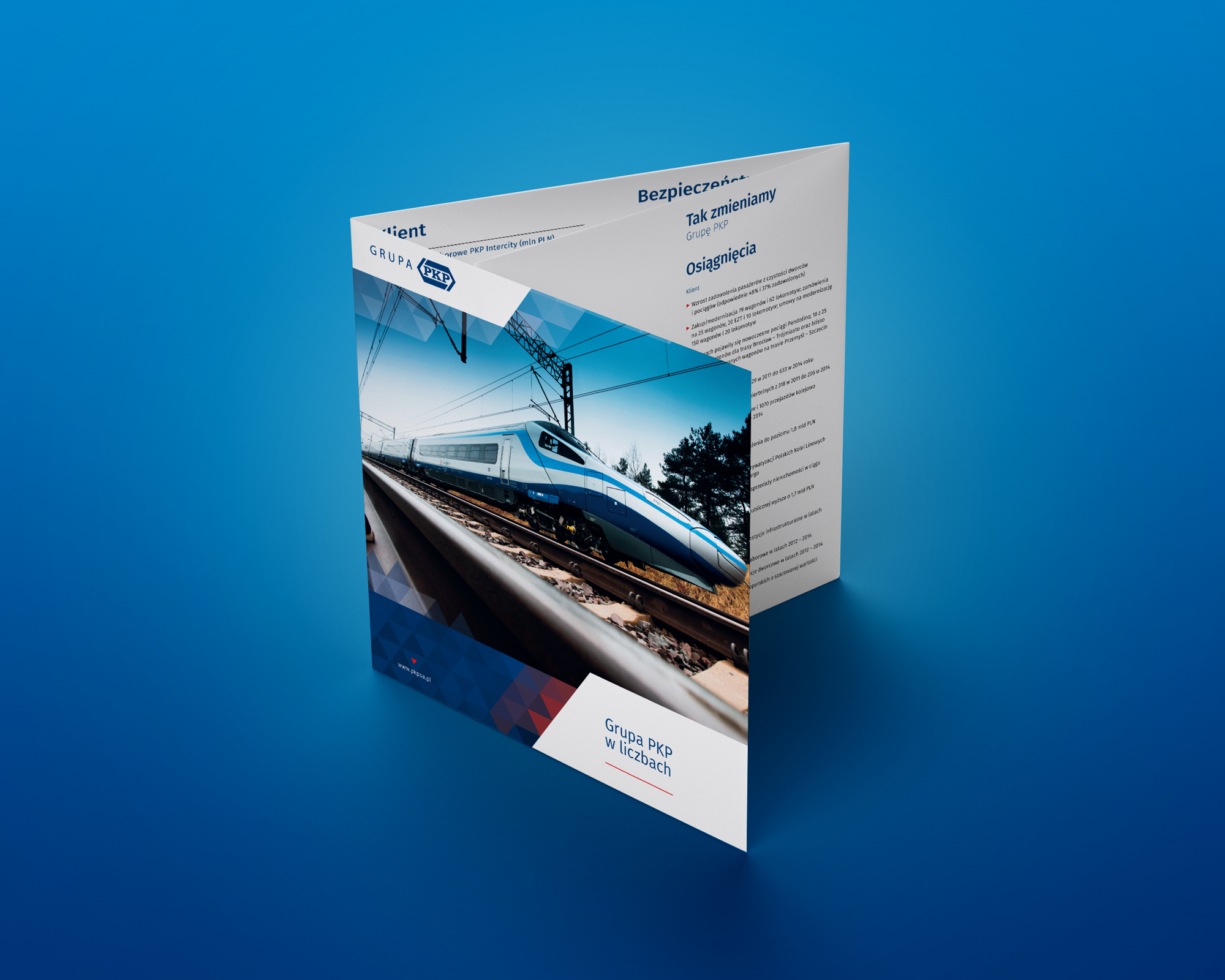 Folder dla grupy PKP na Europejski Kongres Gospodarczy od bzb - effective bran solutions