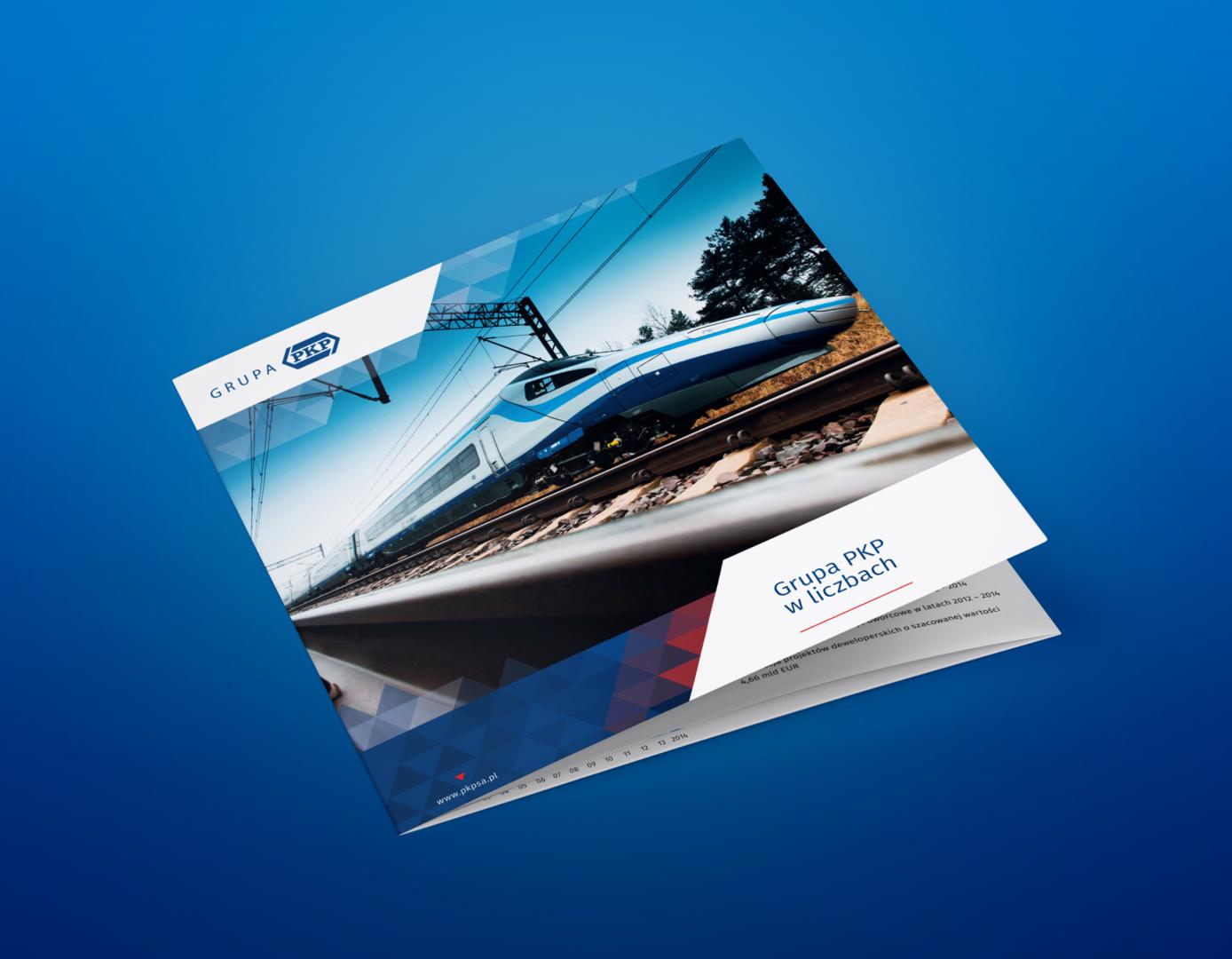 Folder dla grupy PKP na Europejski Kongres Gospodarczy od bzb - effective brand solutions