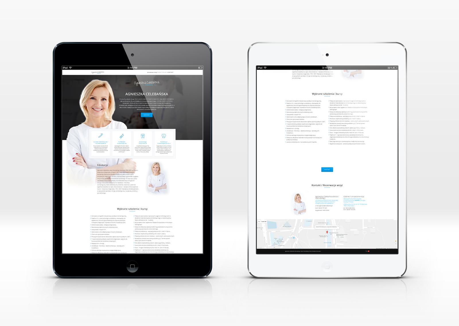 Landing page Celebanska.pl od bzb effective brand solutions