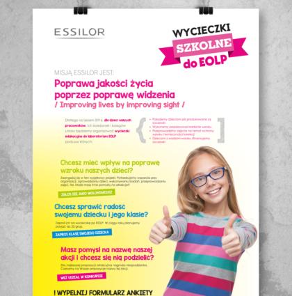 Essilor Plakat – Komunikacja wewnętrzna