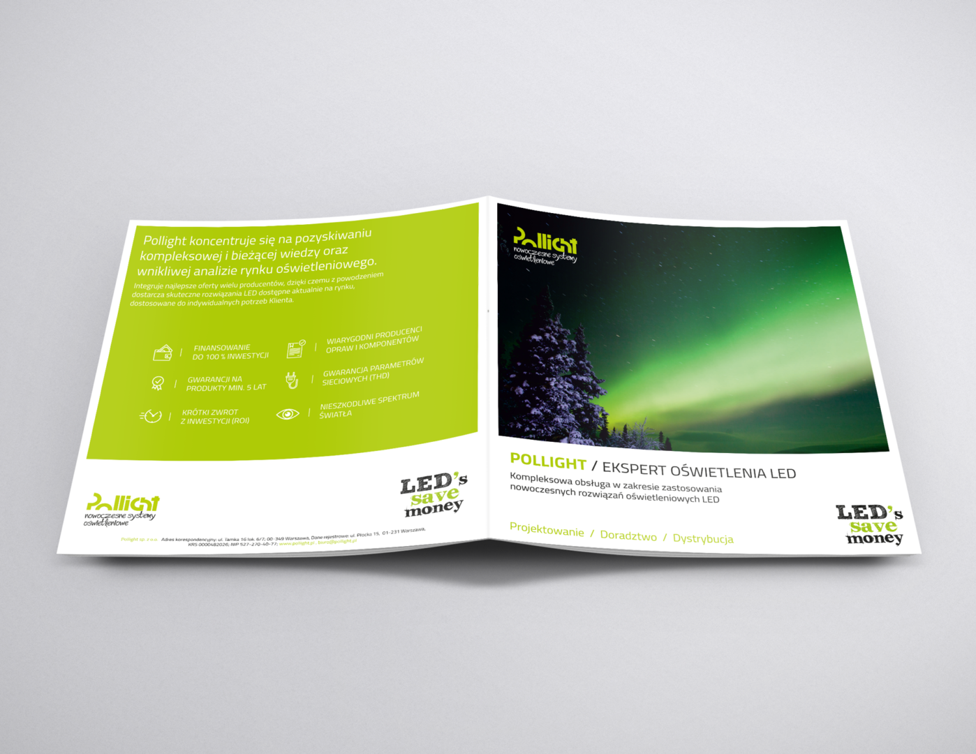 Folder Pollight - bzb effective brand solution