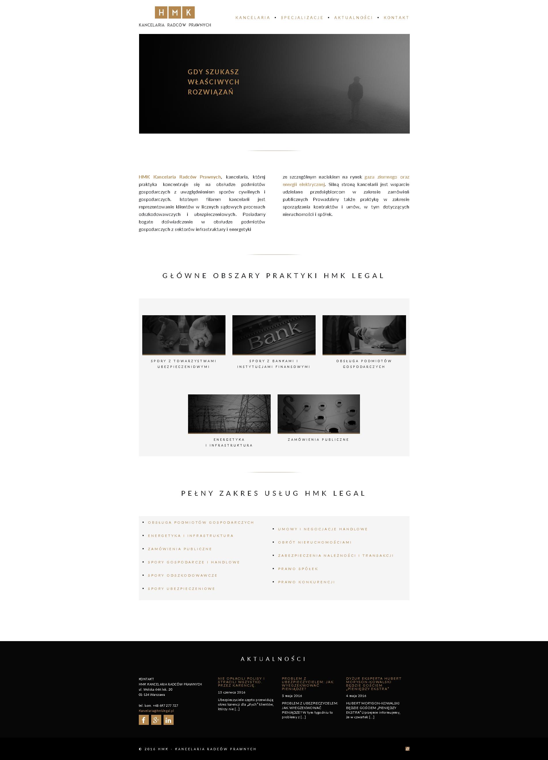 HMK Legal Kancelaria Radców Prawnych strona internetowa - bzb effective brand solutions