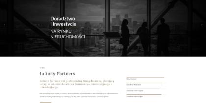 Infinity Partners – strona internetowa
