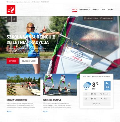 Strona internetowa dla Szkoły windsurfingowej Jot 2